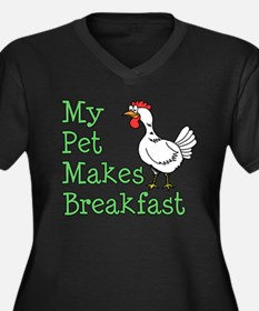 Pet Makes Breakfast Plus Size T-Shirt