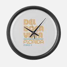 Del Boca Vista Florida Large Wall Clock