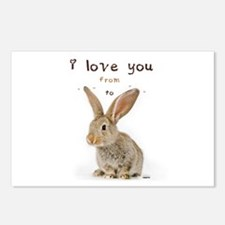 I Love You from Ear to Ear Postcards (Package of 8