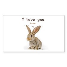 I Love You from Ear to Ear Decal