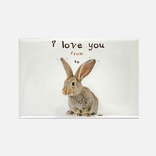 I Love You from Ear to Ear Magnets