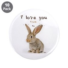 """I Love You from Ear to Ear 3.5"""" Button (10 pack)"""