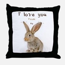 I Love You from Ear to Ear Throw Pillow