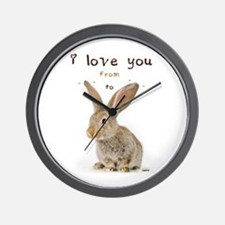 I Love You from Ear to Ear Wall Clock