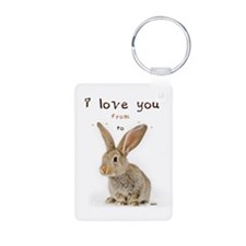 I Love You from Ear to Ear Keychains