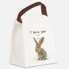 I Love You from Ear to Ear Canvas Lunch Bag