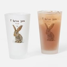 I Love You from Ear to Ear Drinking Glass