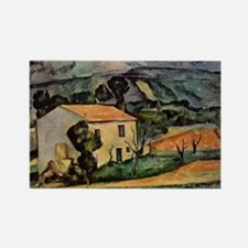 Cezanne - Houses in Provence near Rectangle Magnet