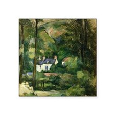 "Cezanne - Houses in the Gre Square Sticker 3"" x 3"""