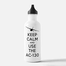 Keep Calm AC-130 Water Bottle