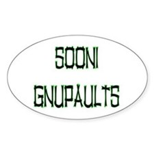 SOONI GNUPAULTS Oval Decal