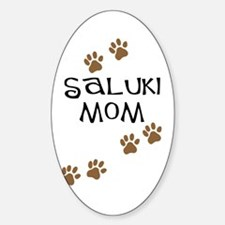 Saluki Mom Paw Prints Oval Decal