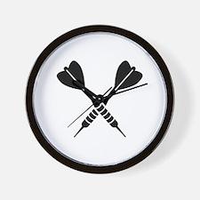 Crossed Darts Wall Clock