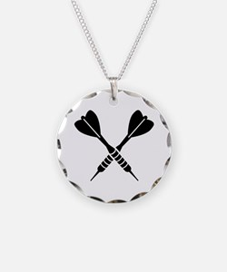 Crossed Darts Necklace