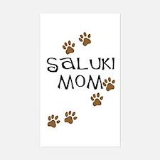 Saluki Mom Paw Prints Rectangle Decal