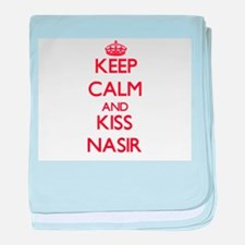 Keep Calm and Kiss Nasir baby blanket