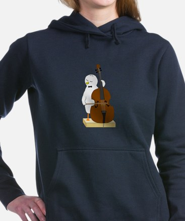 Double Bass Player Women's Hooded Sweatshirt