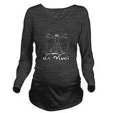 Da Vinci White Long Sleeve Maternity T-Shirt