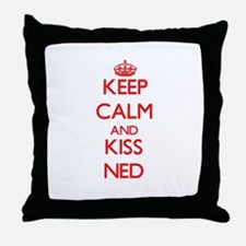 Keep Calm and Kiss Ned Throw Pillow