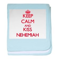 Keep Calm and Kiss Nehemiah baby blanket