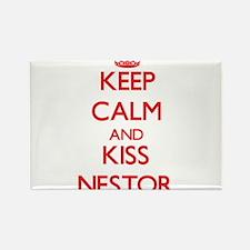 Keep Calm and Kiss Nestor Magnets