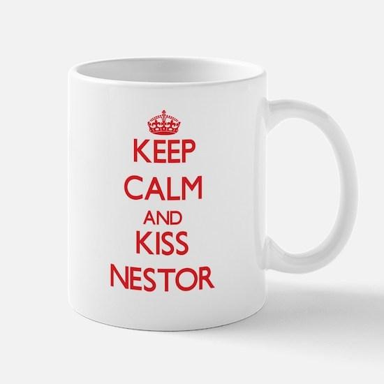 Keep Calm and Kiss Nestor Mugs