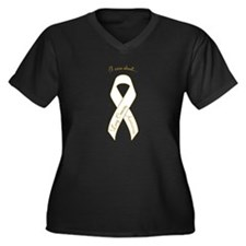 I Care About Women's Plus Size V-Neck Dark T-Shirt