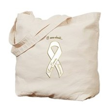 I Care About Lung Cancer Tote Bag