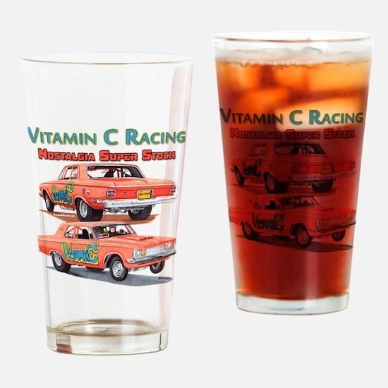 Vitamin C Racing Drinking Glass
