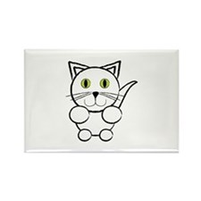 White Kitty Cat Magnets