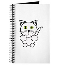 White Kitty Cat Journal