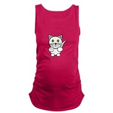 White Kitty Cat Maternity Tank Top