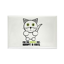 For A Perfect Pet Adopt A Cat! Magnets