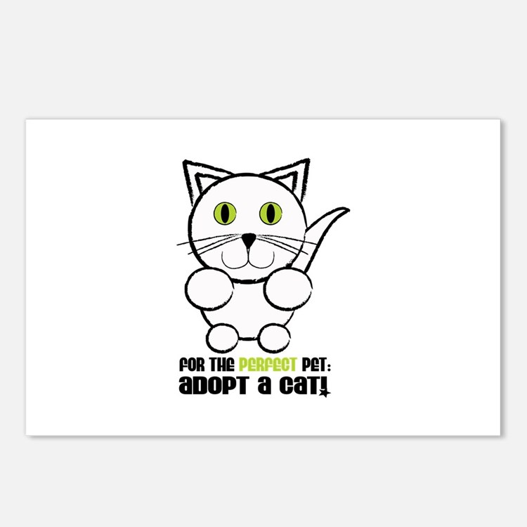 For A Perfect Pet Adopt A Cat! Postcards (Package