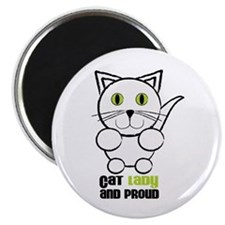 Cat Lady And Proud Magnets
