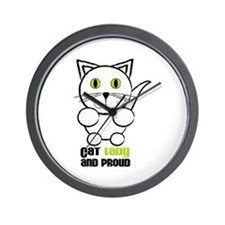 Cat Lady And Proud Wall Clock