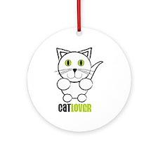 Cat Lover Ornament (Round)