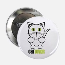 """Cat Lover 2.25"""" Button"""