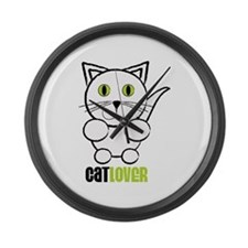 Cat Lover Large Wall Clock