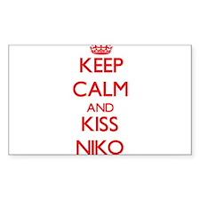 Keep Calm and Kiss Niko Decal