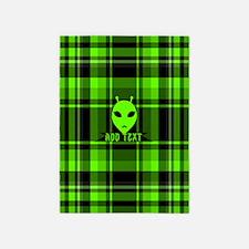 Alien Face Plaid 5'x7'Area Rug