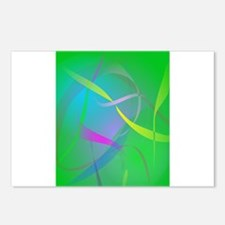 Morning Mist Hazy Green Abstract Colors Postcards