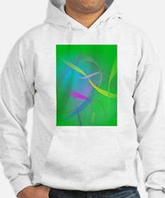 Morning Mist Hazy Green Abstract Colors Hoodie