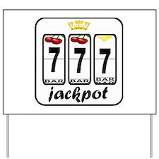 Lucky 7 jackpot Yard Sign