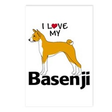 I Love my Basenji Postcards (Package of 8)