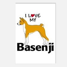 I Love my Basenji Postcards (Package of 8)