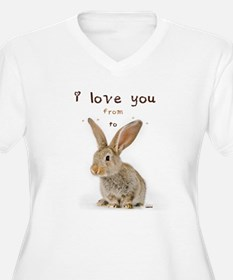 I Love You from Ear to Ear Plus Size T-Shirt