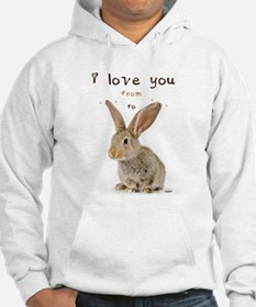 I Love You from Ear to Ear Jumper Hoody