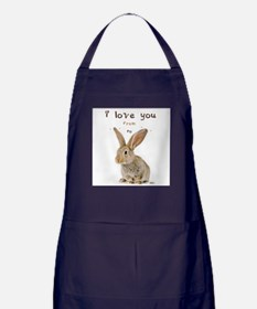 I Love You from Ear to Ear Apron (dark)