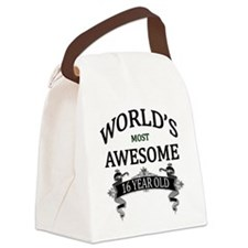 World's Most Awesome 16 Year Old Canvas Lunch Bag